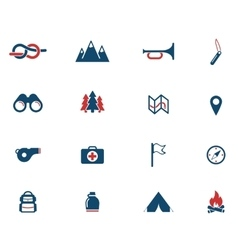 Boy scout simply icons vector image