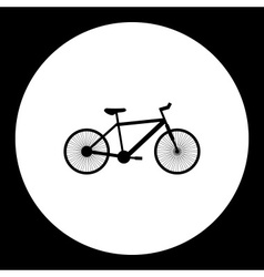 Black bicycle simple isolated black icon eps10 vector