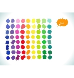 Colorful watercolor rainbow splashes set vector