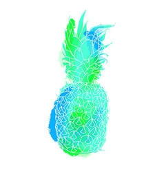 Colorful summer pineapple art vector