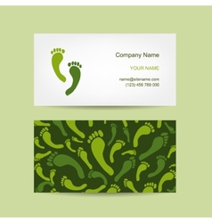 Business cards design foot massage vector image vector image