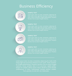 Business efficiency poster vector