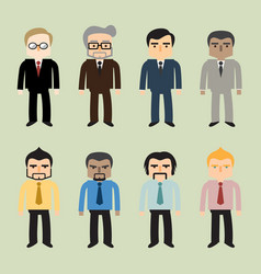 Business people flat design vector