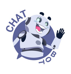 Chat bot icon modile app robot chatter or vector