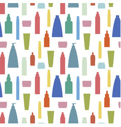 cosmetics bottle pattern vector image vector image