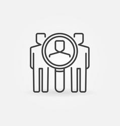 find people icon vector image