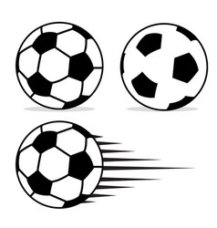 football ball flat design set with isolated on vector image vector image