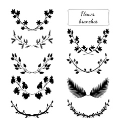 Hand drawn floral set vector