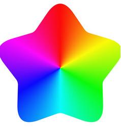 Isolated gradient rainbow star design vector