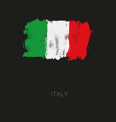 italy colorful brush strokes painted national vector image