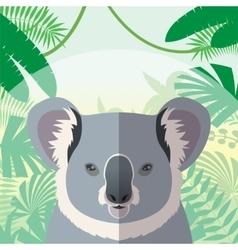 Koala on the Jungle Background vector image
