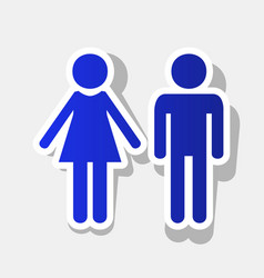Male and female sign new year bluish icon vector