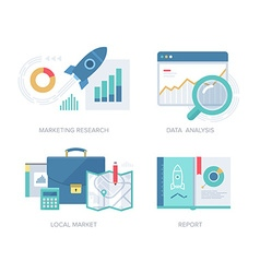 Marketing Concepts Collection vector image