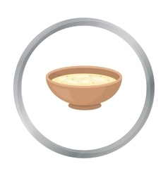 Miso soup icon in cartoon style isolated on white vector image vector image