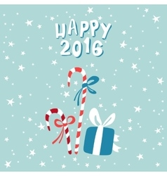 New year greeting card with a picture of christmas vector