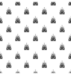 Orthodox church building pattern simple style vector