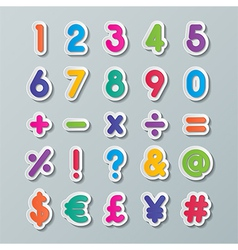 Paper number and symbol vector