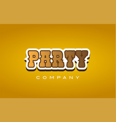 Party western style word text logo design icon vector