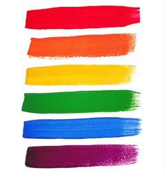 Rainbow watercolor brush strokes vector