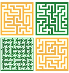 Set of colorful mazes Good for logo or icon vector image