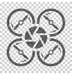 Shutter drone grainy texture icon vector
