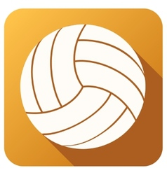 Sport icon with volleyball ball in flat style vector image vector image