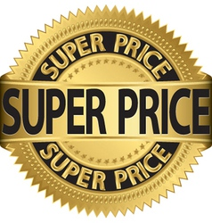 Super price golden label vector image vector image