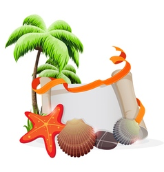 Tropical vacation concept vector