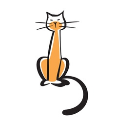 vector illustration of a cat vector image vector image