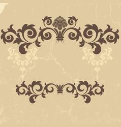 vintage grunge beige frame vector image vector image