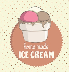 VintageIceCream2 vector image
