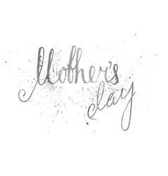 Silver textured mothers day inscription vector