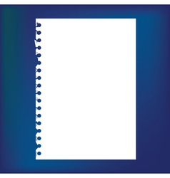 Blank notepad paper vector