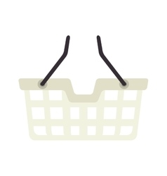 Basket shopping shop buy handle buyer icon vector