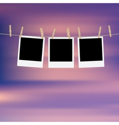 Photo Frames on Rope7 vector image