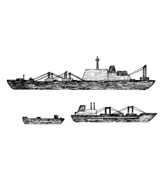 Set of ship vector