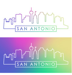 San antonio skyline colorful linear style vector
