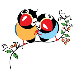 Pair of cartoon birds vector