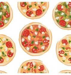 Pizza seamless pattern for your design vector