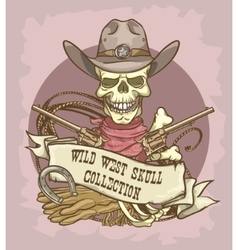 Wild west label vector