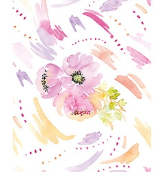 Spots watercolor seamless flowers vector