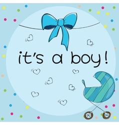 Baby card - its a boy theme vector