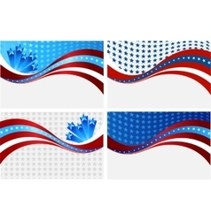 American flag background for independence vector