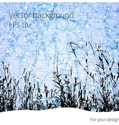 Winter grass background vector