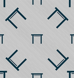 Stool seat icon sign seamless pattern with vector