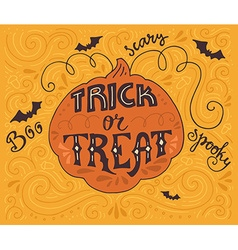 Trick-or-treat lettering vector