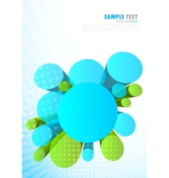 background with 3d circles vector image
