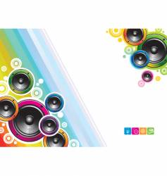 Loudspeakers background vector