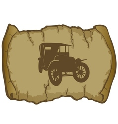 Vintage car and parchment vector