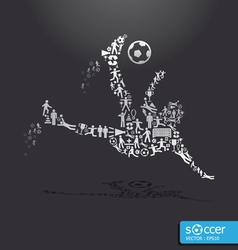 active soccer player shape concept vector image